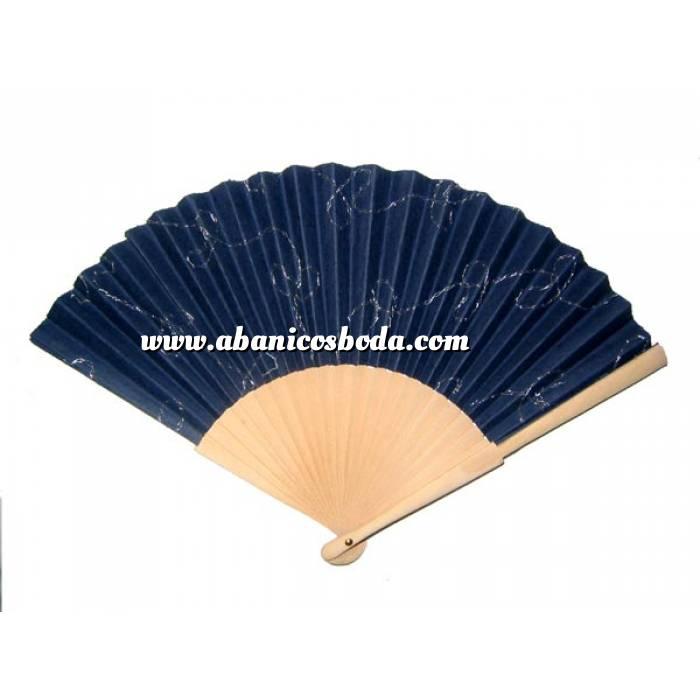 Imagen ABANICO EXCLUSIVO Abanico natural Azul Bordado (Últimas Unidades)