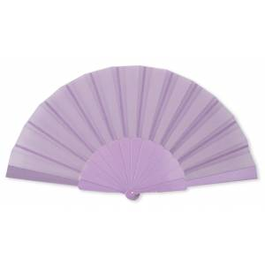 Abanico Económicos - Abanico de tela Morado (con varillas de plástico) (Últimas Unidades)
